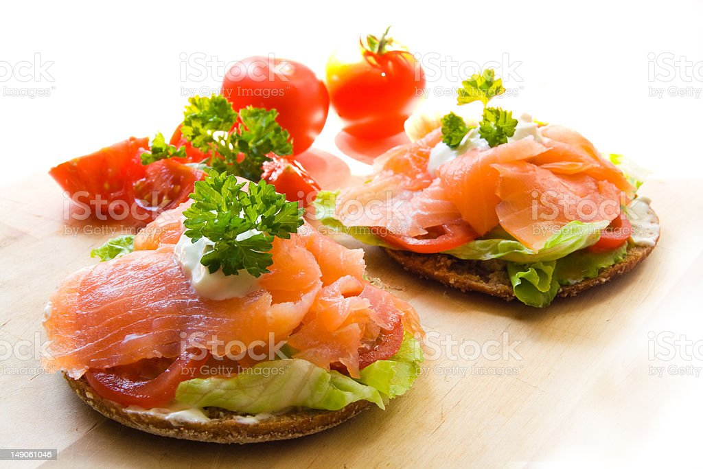 Snack with salmon royalty-free stock photo