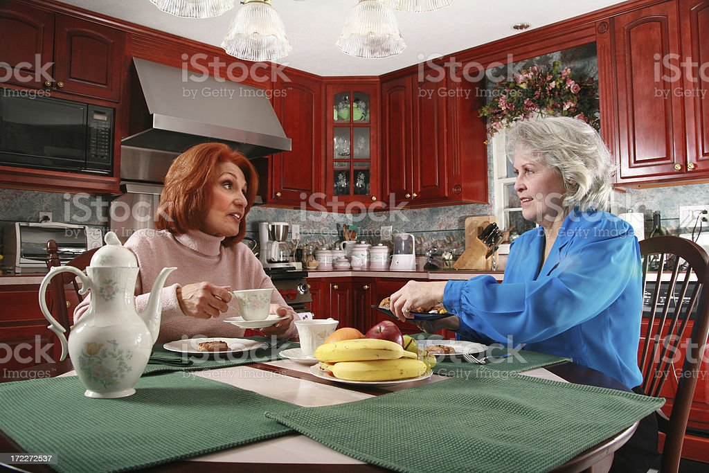 Snacks And Conversation royalty-free stock photo