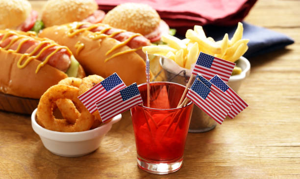 snacks for independence day - fourth of july zdjęcia i obrazy z banku zdjęć