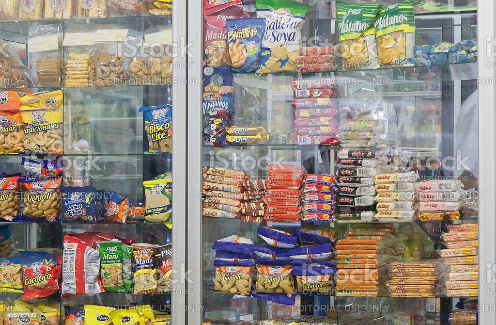 Snacks in cafeteria - University San Jose, Costa Rica stock photo