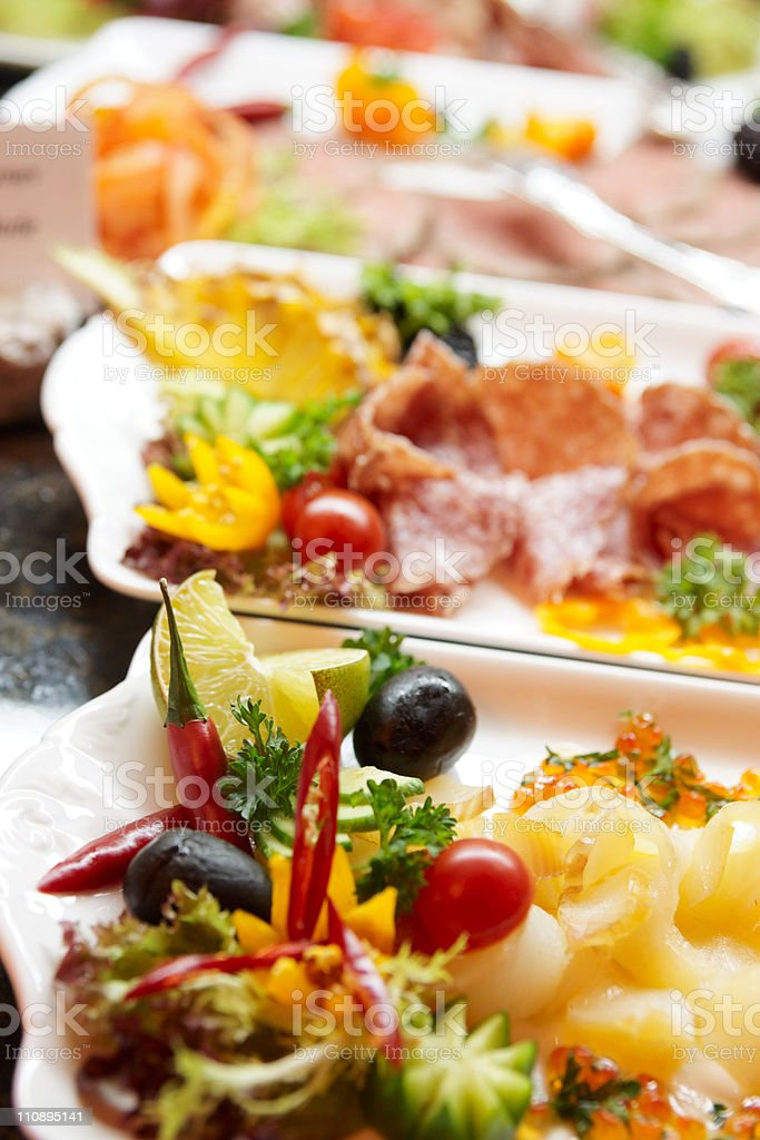 Snacks in expensive hotel royalty-free stock photo