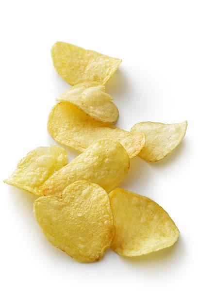Imbisse : Kartoffel Chips isoliert auf Weißer Hintergrund – Foto
