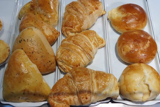 Snacks sold in simple bakeries in Brazil stock photo