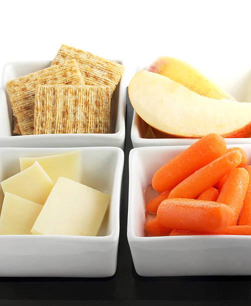 Snacks to go stock photo