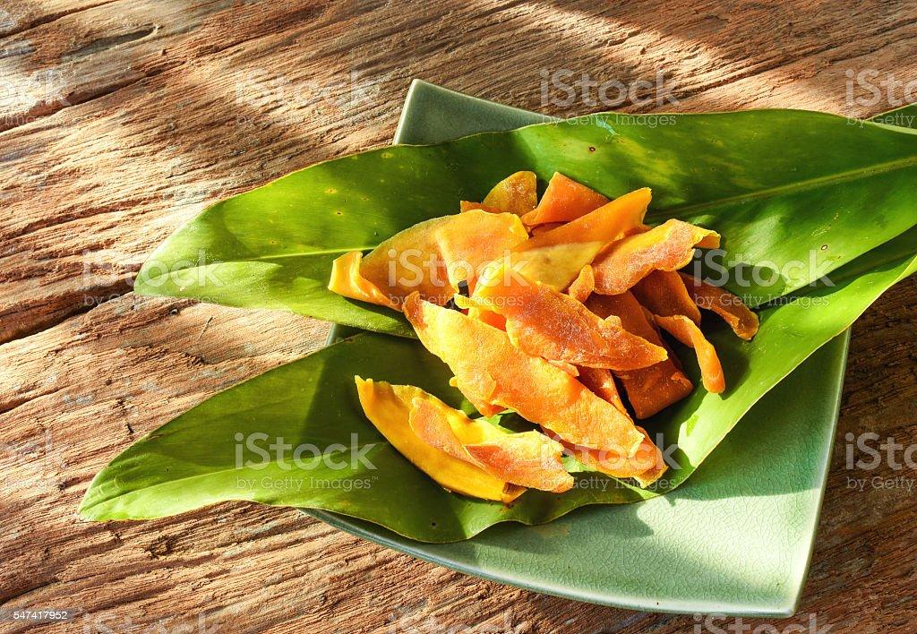 Snacks,preserved mango from Cebu,Philippines. stock photo