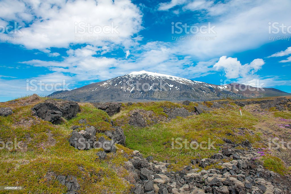 Snaefell stock photo