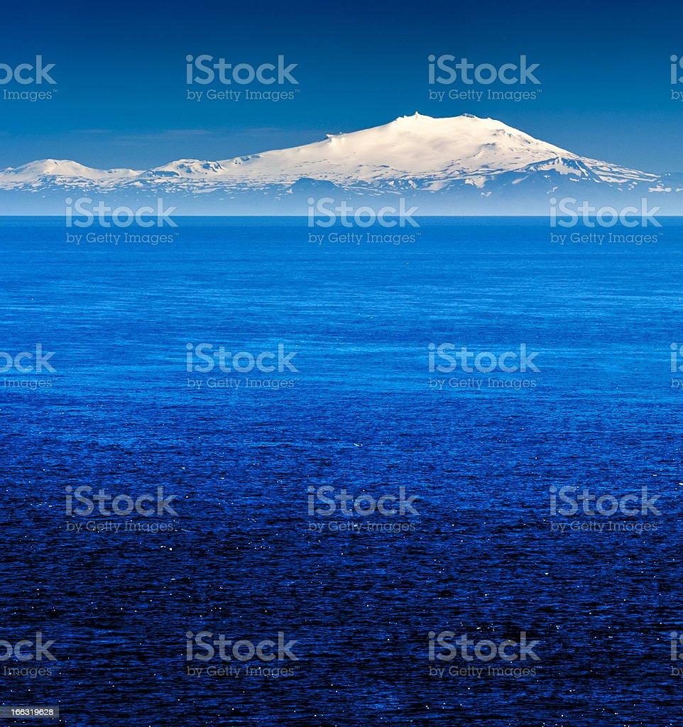 snaefellsjökull, iceland stock photo