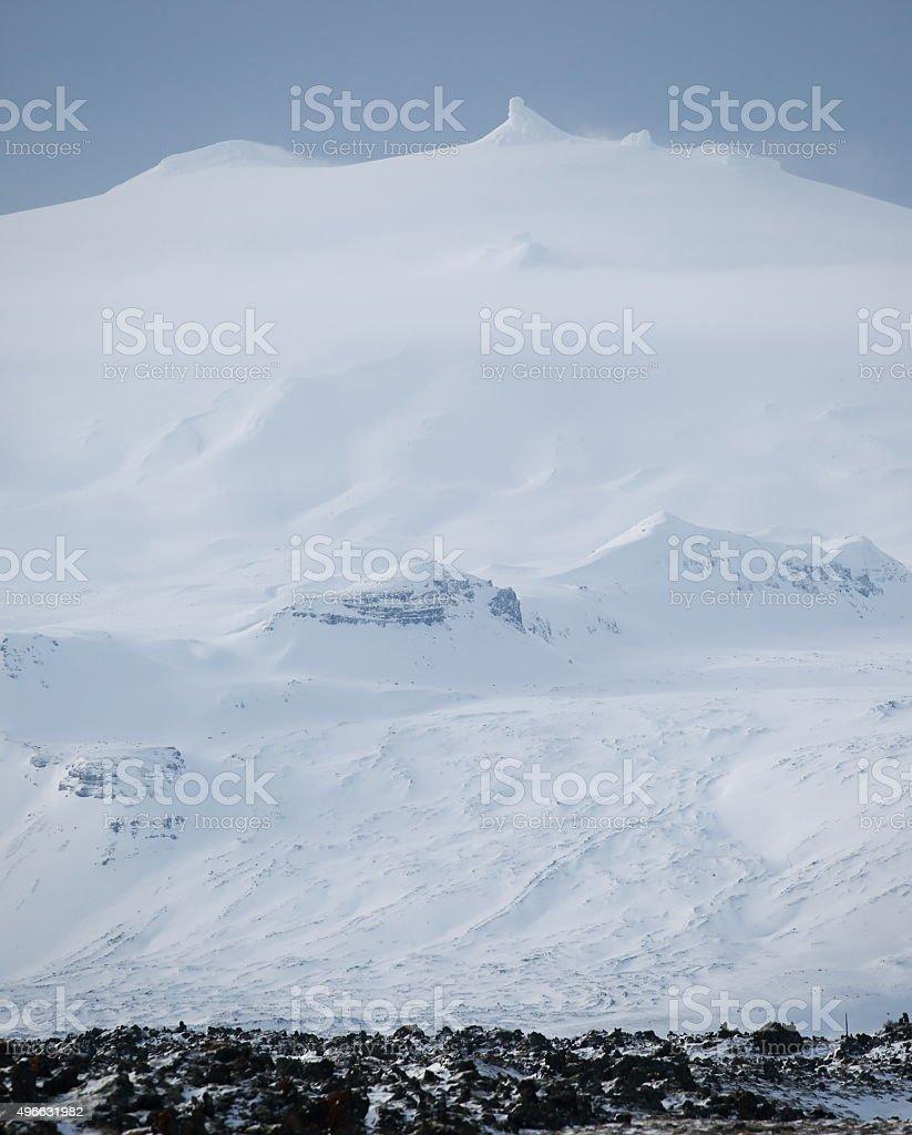 Snaefellsjokull glacier stock photo
