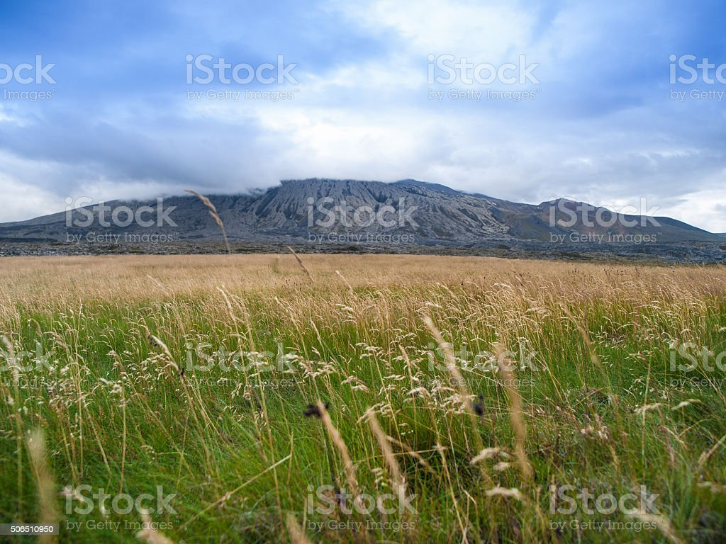 Snaefellsjokull Mountain in Iceland stock photo
