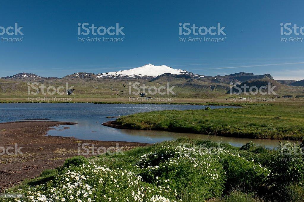 Snaefellsjokull stock photo