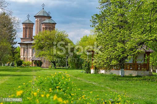 Picturesque monastery near Bucharest, placed on Snagov lake on a small island