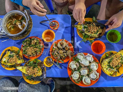 Snail feast- Vietnamese famous street food style in Ho Chi Minh city
