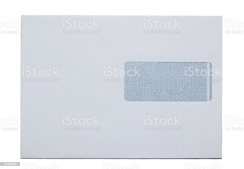 Snail Mail envelop, paper, isolated on white royalty-free stock photo