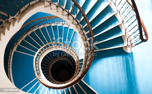 Budapest Bauhaus in the house of a spiral staircase.