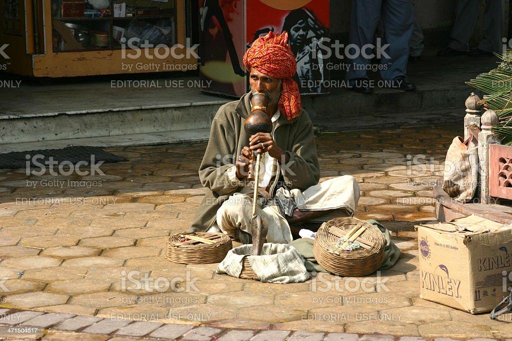 Snake Charmer in New Delhi stock photo