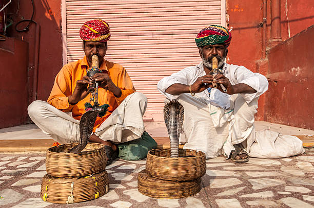 snake charmer - charming stock photos and pictures