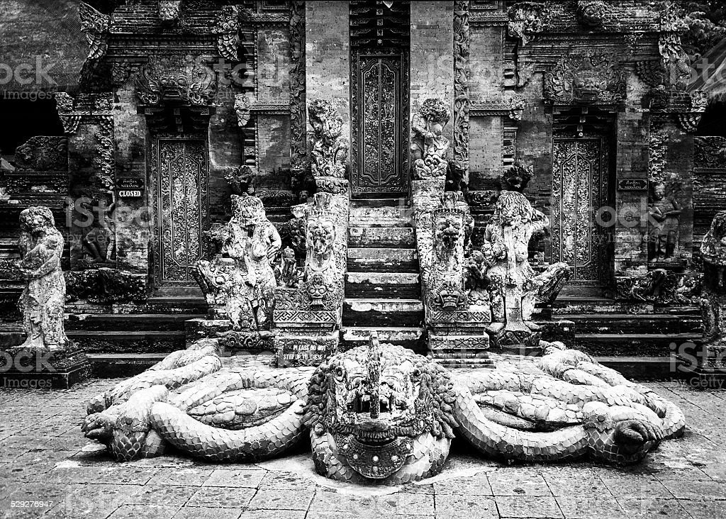 Snake God Naga in Hindu Temple stock photo