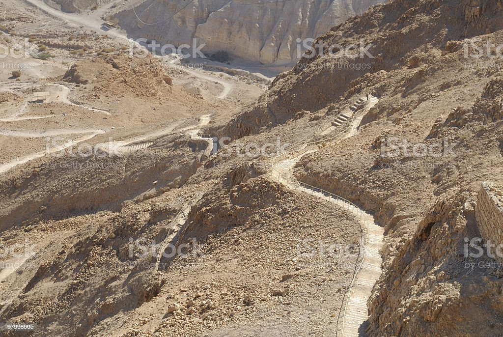 Snake path of Masada royalty-free stock photo