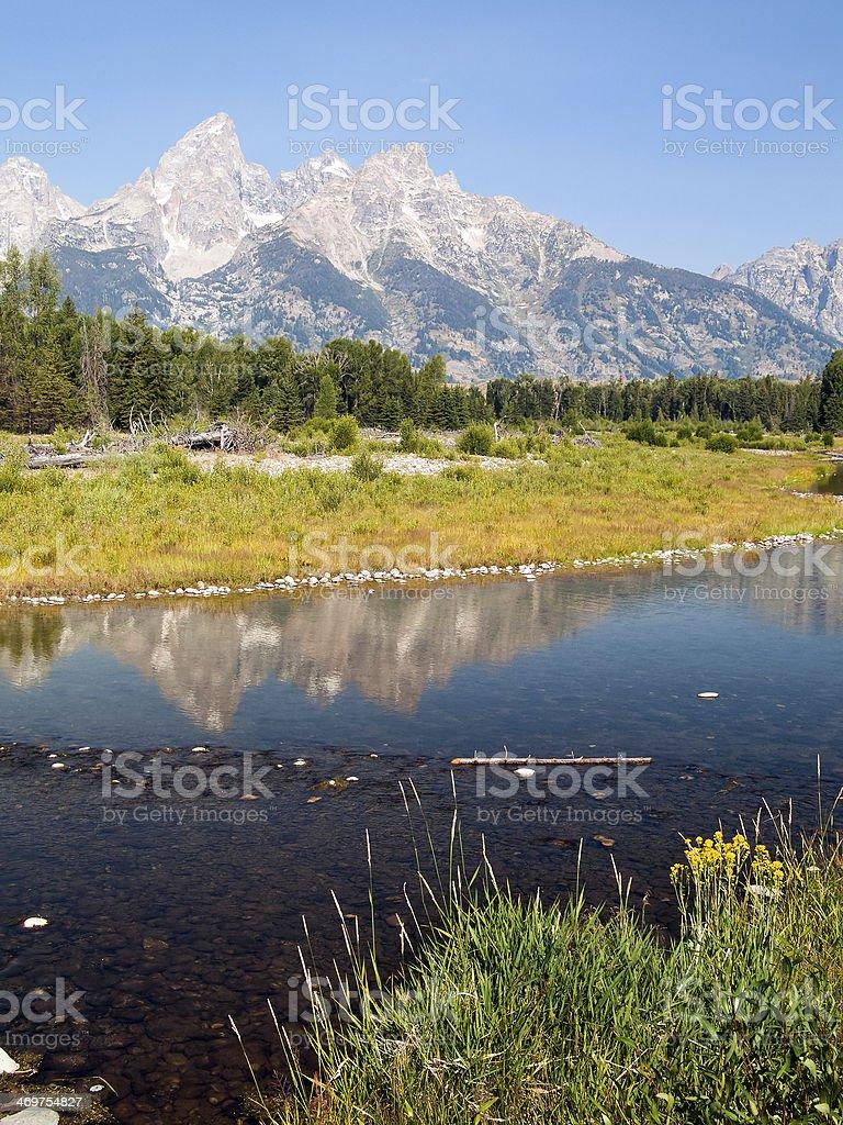 Snake River and Teton Range royalty-free stock photo