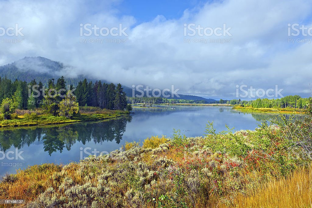 Snake River at Targhee National Forest, Wyoming USA royalty-free stock photo