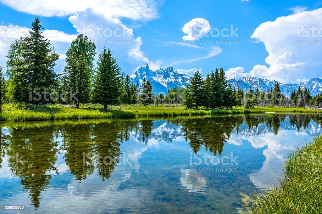 Snake River at Teton Range stock photo