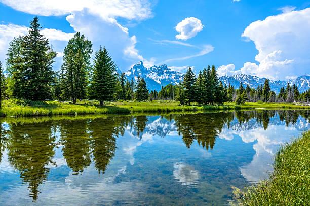 Snake River at Teton Range stock photo