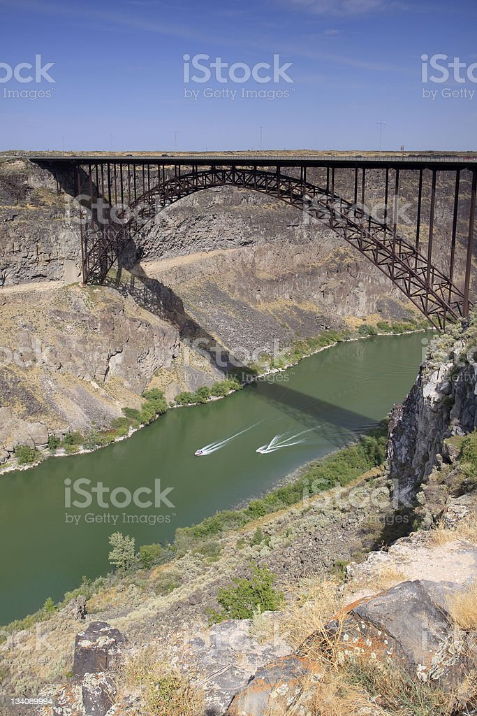 Snake River Bridge royalty-free stock photo