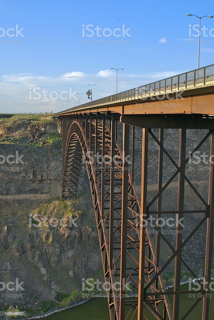 Snake River Bridge royalty-free stock photo