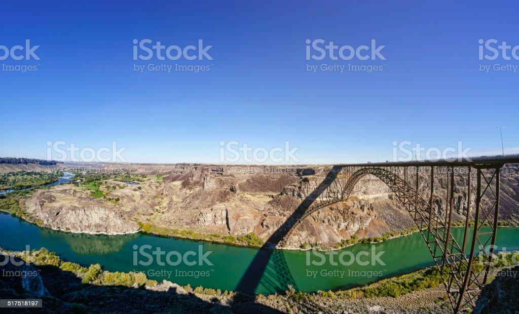Snake River Bridge stock photo