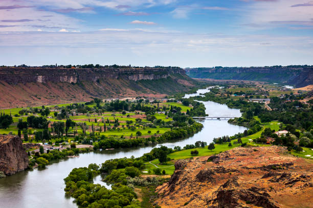 Snake River Canyon, Twin Falls, Idaho stock photo