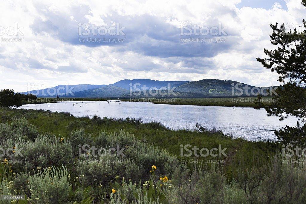 Snake River Fishermen royalty-free stock photo