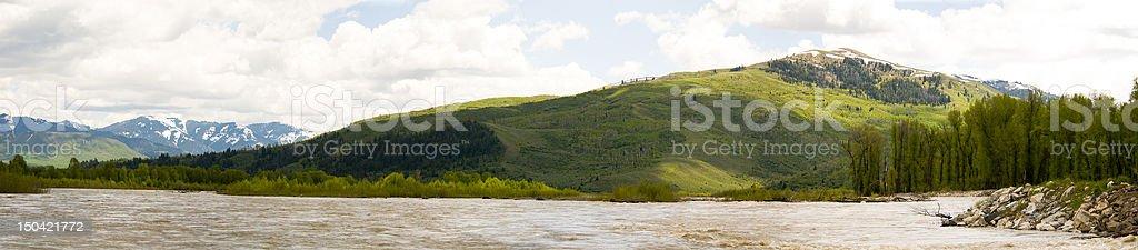Snake River Float Trip royalty-free stock photo