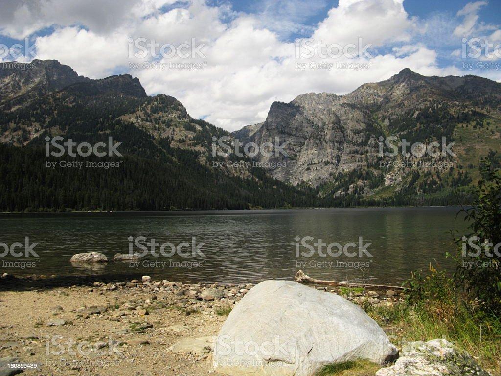 Snake River Grand Teton Mountains Wyoming royalty-free stock photo
