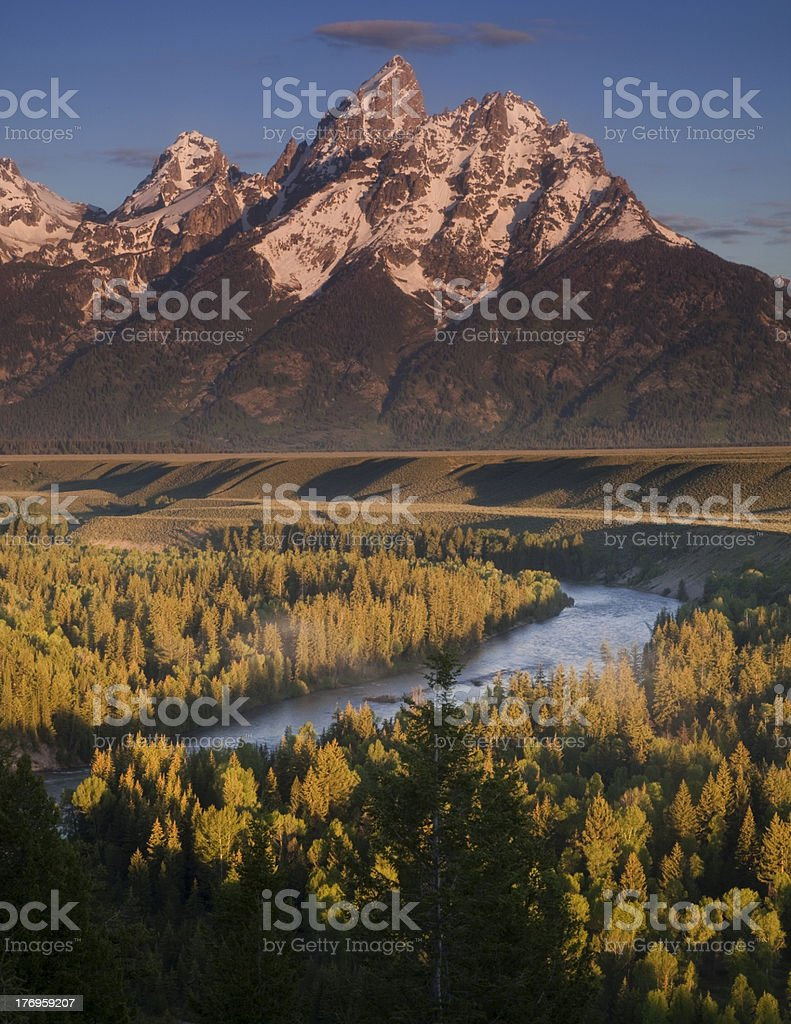 Snake River in the Tetons stock photo