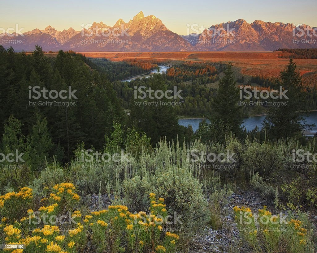 Snake River Lookout stock photo
