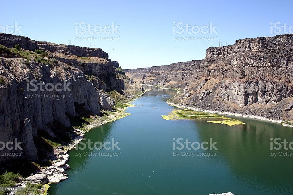 Snake River near Twin Falls, Idaho royalty-free stock photo