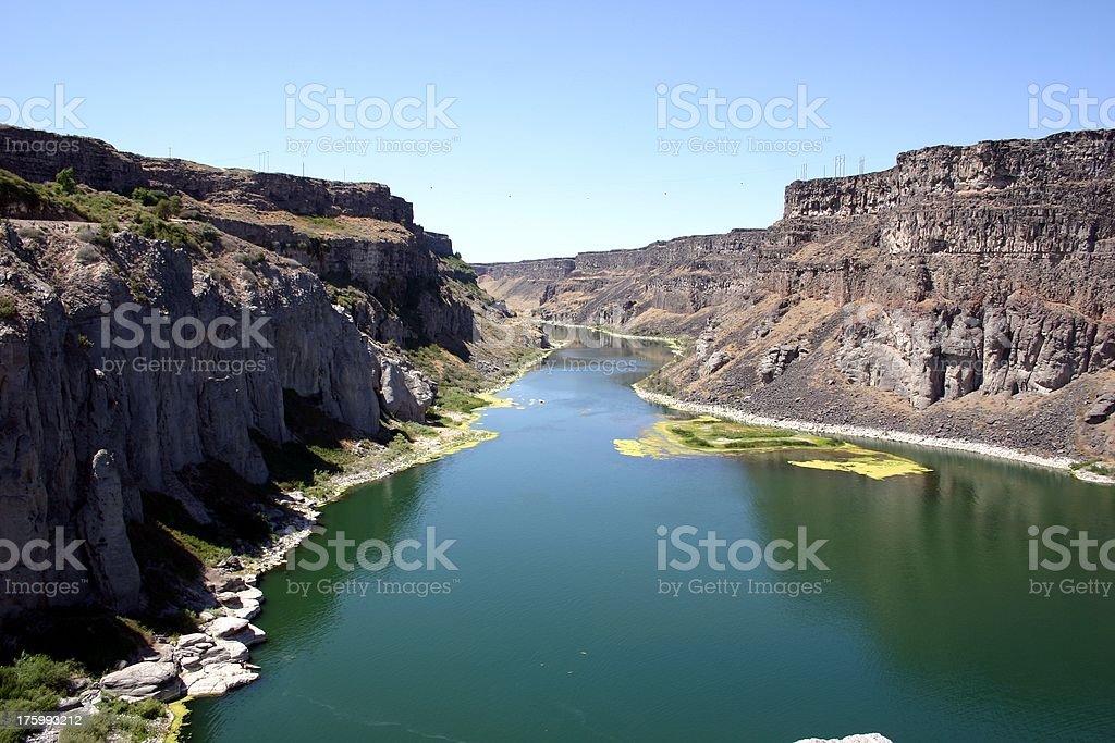 Snake River near Twin Falls, Idaho stock photo