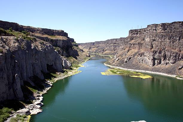 snake river near twin falls, idaho - native american reservation stock photos and pictures