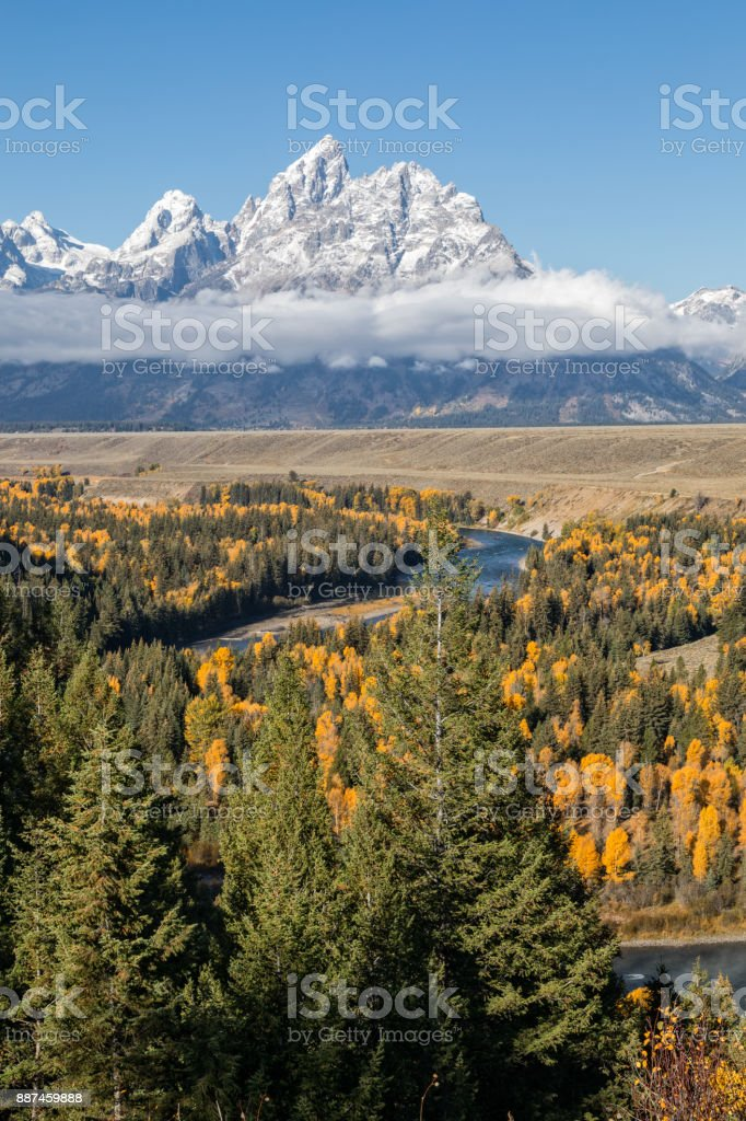 Snake River Overlook in Fall stock photo