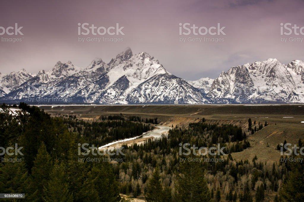 Snake River (Grand Teton National Park) stock photo