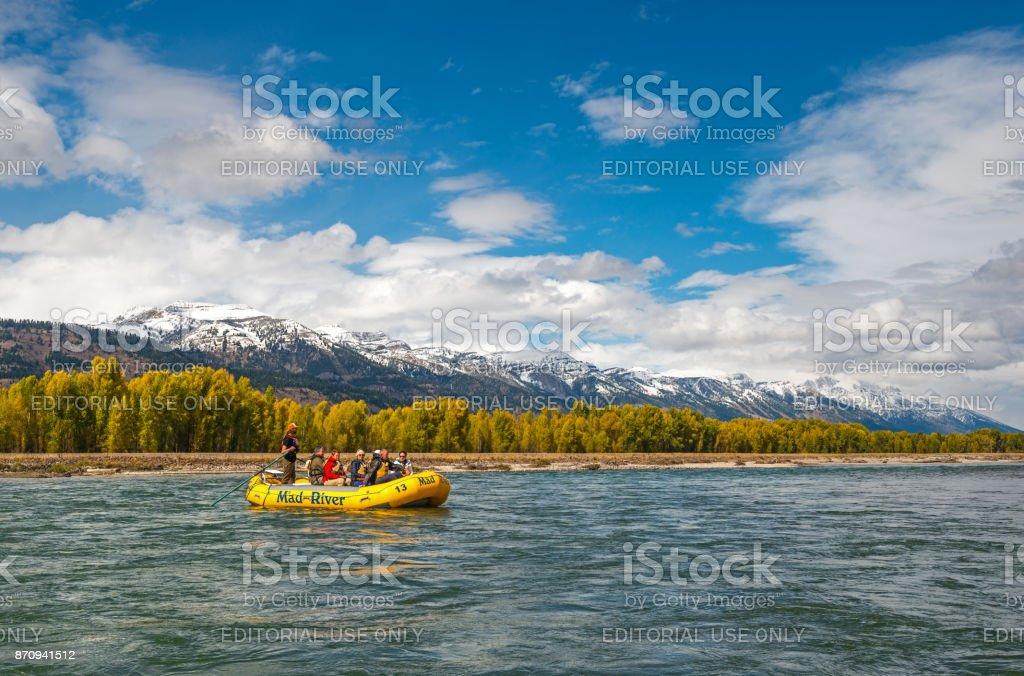 Snake River Rafting stock photo