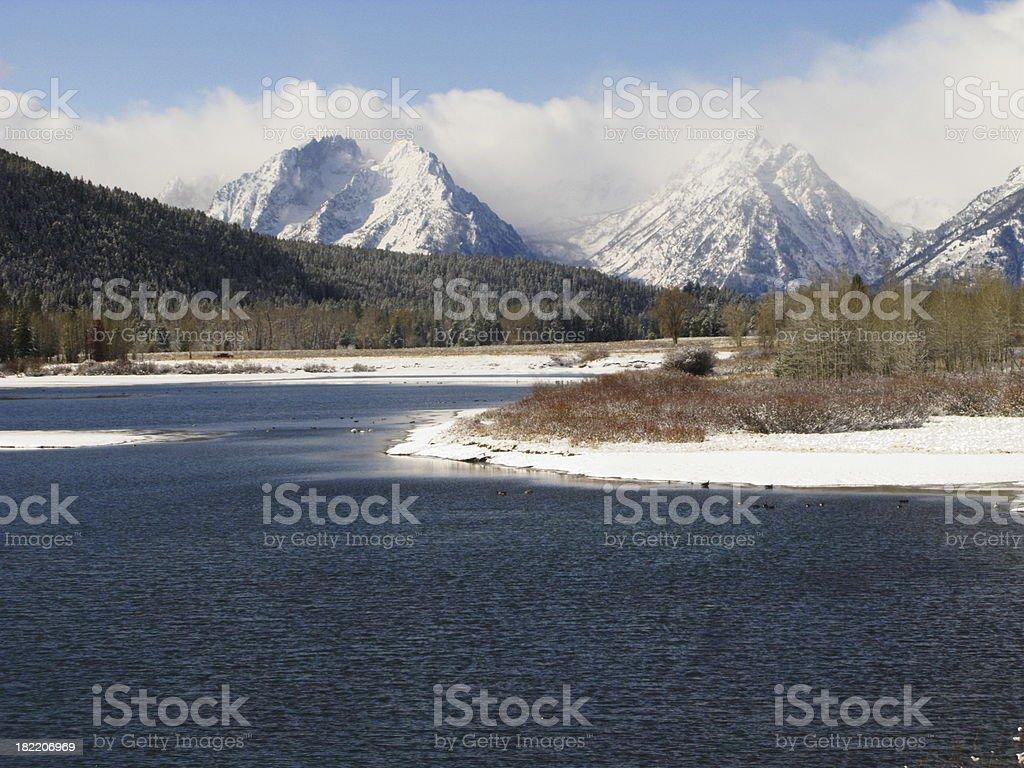 Snake River Teton Mountains royalty-free stock photo