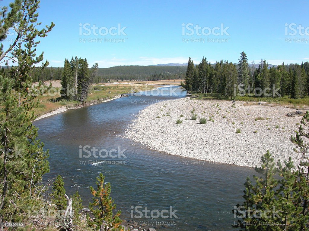 Snake River, Yellowstone National Park, Wyoming, USA stock photo