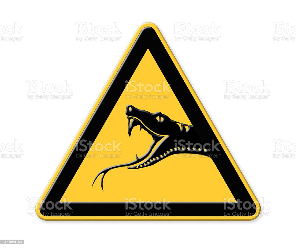Snake Road Sign stock photo