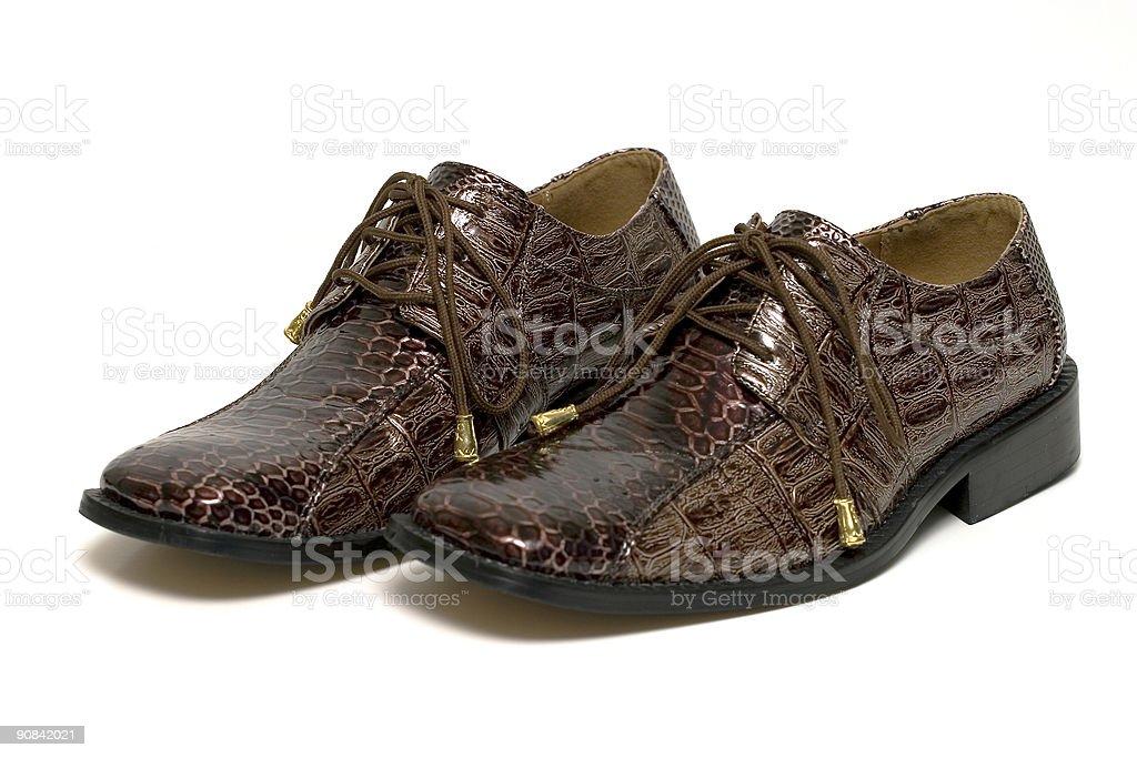 Snake skin shoes royalty-free stock photo
