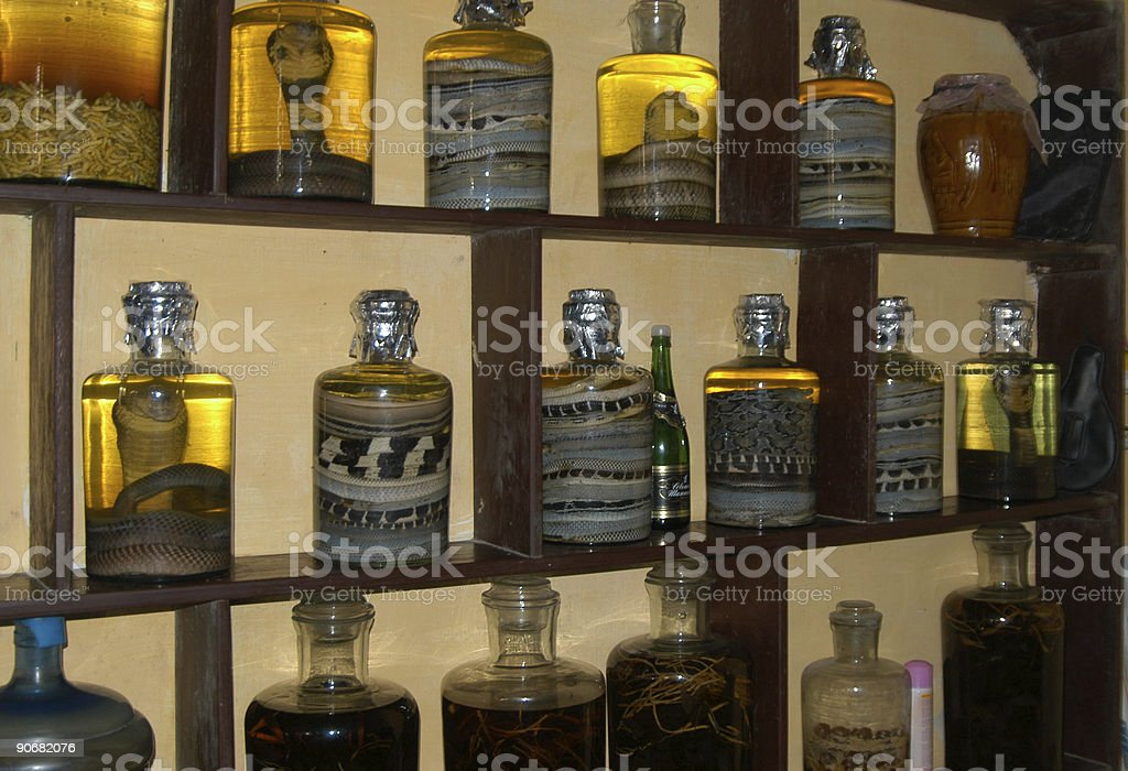 Snake Wine royalty-free stock photo