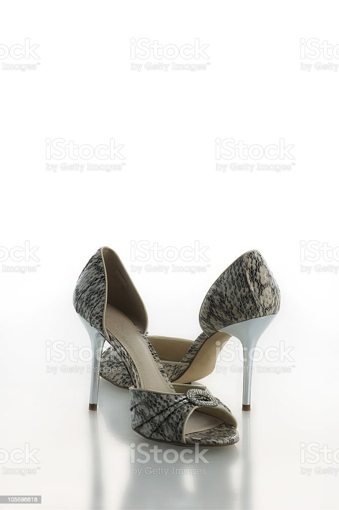 Snakeskin Stilettos royalty-free stock photo
