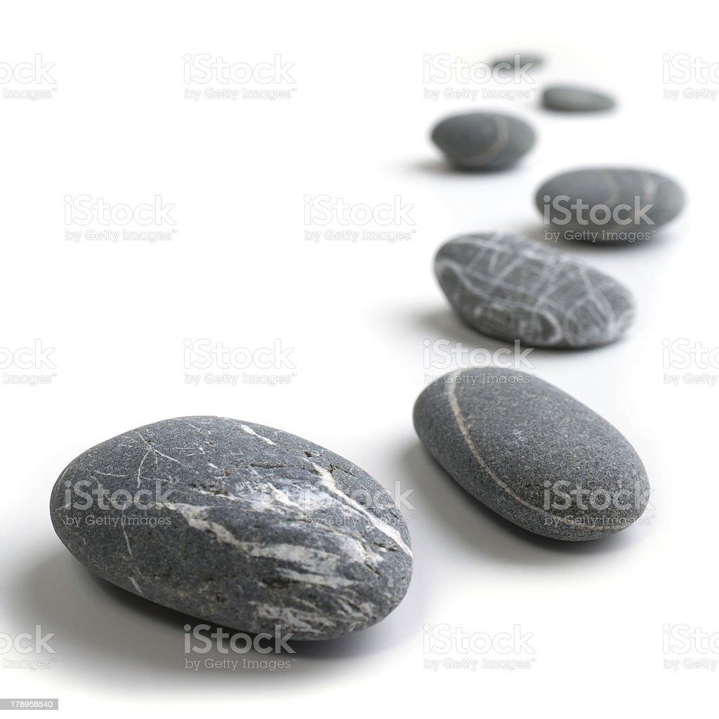 Snaking Reihe von Steinen Lizenzfreies stock-foto