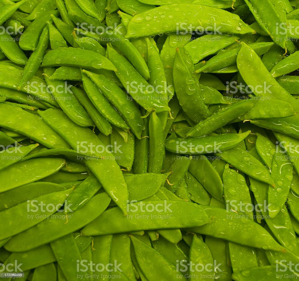 Snap Peas Background, Pattern or Texture royalty-free stock photo