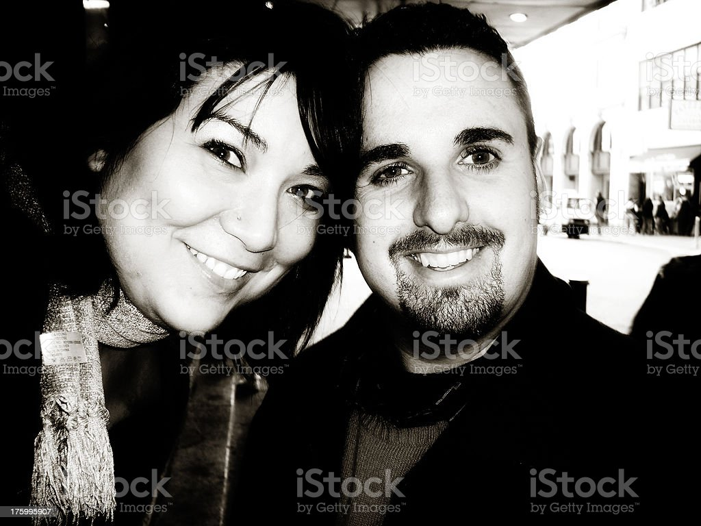 snap shot couple portrait royalty-free stock photo